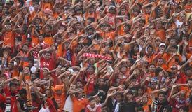 Sostenitore di calcio Fotografie Stock
