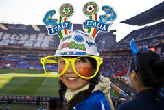 Sostenitore di calcio dell'Italia - WC 2010 della FIFA Fotografia Stock Libera da Diritti