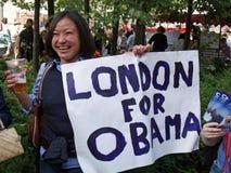 Sostenitore di Obama Fotografie Stock Libere da Diritti