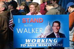 Sostenitore di partito del tè in Wisconsin Immagini Stock