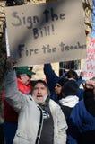 Sostenitore di partito del tè in Wisconsin Fotografia Stock Libera da Diritti