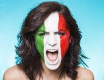 Sostenitore italiano per la FIFA 2014 che grida Fotografia Stock