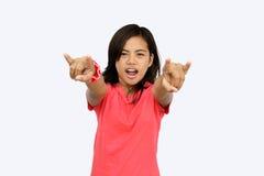 Sostenitore teenager asiatico Fotografia Stock Libera da Diritti
