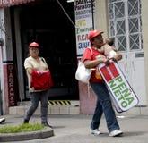 Sostenitori del candidato di PRI per il Presidente della m. Fotografia Stock