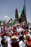 Sostenitori del candidato di PRI per il Presidente della m. Fotografie Stock Libere da Diritti