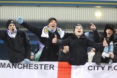 Sostenitori della città di FC Manchester Fotografia Stock Libera da Diritti