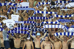 Sostenitori della squadra di FC Dynamo Kiev Immagine Stock Libera da Diritti