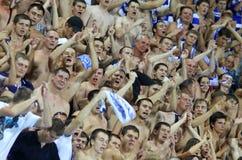 Sostenitori della squadra di FC Dynamo Kiev Fotografie Stock