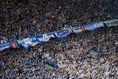 Sostenitori di gioco del calcio Fotografia Stock Libera da Diritti