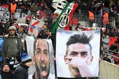 Sostenitori di Juventus immagini stock
