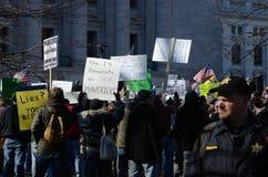 Sostenitori di partito del tè in Wisconsin Fotografia Stock
