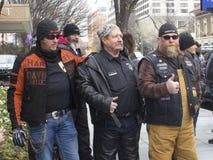 Sostenitori di Trump fuori dell'inaugurazione 2017 del ` s di Donald Trump Fotografia Stock Libera da Diritti