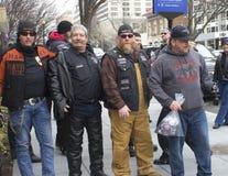 Sostenitori di Trump fuori dell'inaugurazione 2017 del ` s di Donald Trump Fotografia Stock