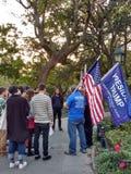 Sostenitori di Trump, Washington Square Park, NYC, NY, U.S.A. Fotografie Stock Libere da Diritti