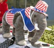 Sostenitori repubblicani al dibattito del GOP Fotografia Stock