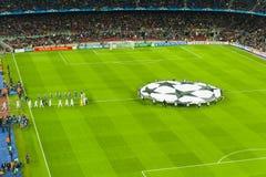 Sostiene il leage Barça-Bayer Leverkusen (7-1) Fotografia Stock