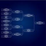 Sostiene il modello finale del tabellone segnapunti su fondo scuro Grafico di torneo di sport per i gruppi ed i gruppi Playfield  illustrazione vettoriale