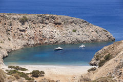 Sostis Bay. Cretan beach. Mediterranean landscape. Greece Stock Photo