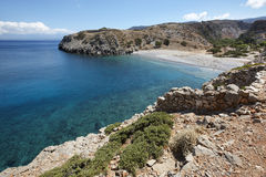 Sostis Bay. Cretan beach. Mediterranean landscape. Greece Stock Images