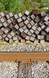 Sostituzione dei legami di ferrovia Fotografia Stock