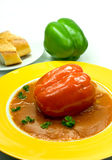 sosu pieprzowego faszerowane pomidory Zdjęcie Royalty Free