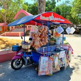 Sotam shop. Thailand only. Somtam shop on tri-mortercycle Royalty Free Stock Photography