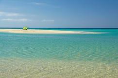 Sotavento海滩在费埃特文图拉岛,加那利群岛,西班牙 库存照片