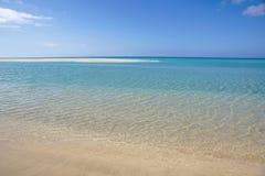 Sotavento海滩在费埃特文图拉岛,加那利群岛,西班牙 免版税库存照片