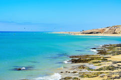 Sotavento Beach in Fuerteventura Canary Islands Royalty Free Stock Images