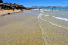 Sotavento Beach in Fuerteventura, Canary Islands, Spain Royalty Free Stock Image