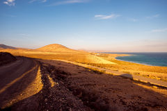 Sotavento beach on Fuerteventura island. Sotavento beach on Jandia peninsula on Fuerteventura island in Spain royalty free stock image