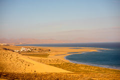 Sotavento beach on Fuerteventura island. Sotavento beach on Jandia peninsula on Fuerteventura island in Spain stock images