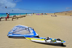 Sotavento Beach in Fuerteventura, Spain Royalty Free Stock Images