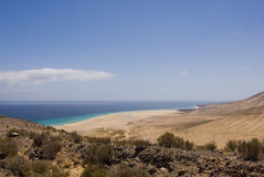 Sotavento Beach (Fuerteventura, Spain) Royalty Free Stock Images