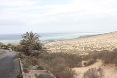 Sotavento. Fuerteventura. Sotavento is made up of five beaches: La Barca, Risco del Paso, Mirador, Los Canarios and Malnombre. With endless walks next to its Royalty Free Stock Photos