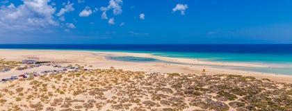 Sotavento ( Jandía ) beach panorama Stock Photography