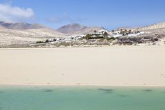 Sotavento Lagoon, Fuerteventura Stock Photo
