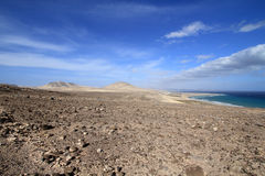 Sotavento mirador (Fuerteventura - Spain). Mirador of Sotavento beach on the Fuerteventura Island (Spain royalty free stock photo