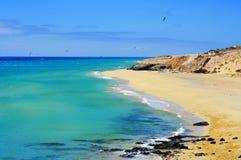 Sotavento plaża w Fuerteventura, wyspy kanaryjska Obraz Royalty Free