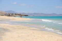 sotavento spain för playa för strandde fuerteventura Arkivfoto