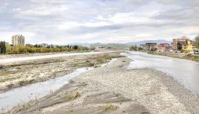 Sotchi adler De rivier van Mzymta Stock Foto