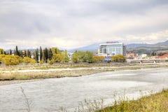 Sotchi adler De rivier van Mzymta royalty-vrije stock afbeeldingen