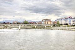 Sotchi adler De rivier van Mzymta Royalty-vrije Stock Foto