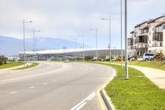 Sotchi adler Olympisch dorp en stadion Royalty-vrije Stock Fotografie
