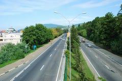 Sotchi. Autosnelweg Royalty-vrije Stock Foto's