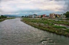 Sotchi, Mzimta-rivier Stock Foto