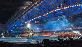 Sotchi 2014 Olympische Spelen die ceremonie openen Royalty-vrije Stock Foto