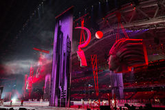 Sotchi 2014 Olympische Spelen die ceremonie openen Royalty-vrije Stock Foto's