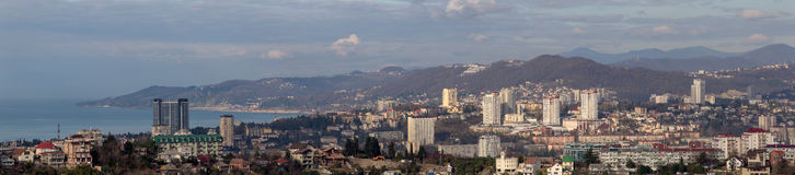 Sotchi, panorama Images libres de droits