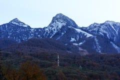 Sotchi Rosa Khutor Montagnes Photographie stock libre de droits